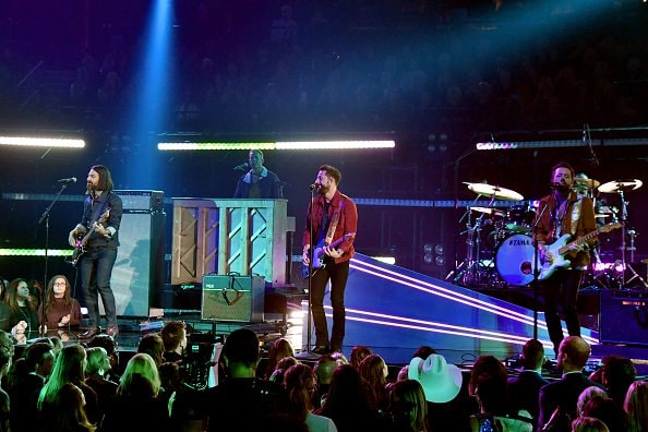 Trevor Rosen, Geoff Sprung, Matthew Ramsey, and Brad Tursi of Old Dominion performs onstage during the 52nd annual CMA Awards at the Bridgestone Arena on November 14, 2018 in Nashville, Tennessee.  (Photo by Michael Loccisano/Getty Images)
