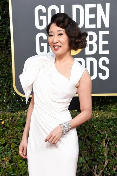 BEVERLY HILLS, CA - JANUARY 06:  Host Sandra Oh attends the 76th Annual Golden Globe Awards at The Beverly Hilton Hotel on January 6, 2019 in Beverly Hills, California.  (Photo by Frazer Harrison/Getty Images)