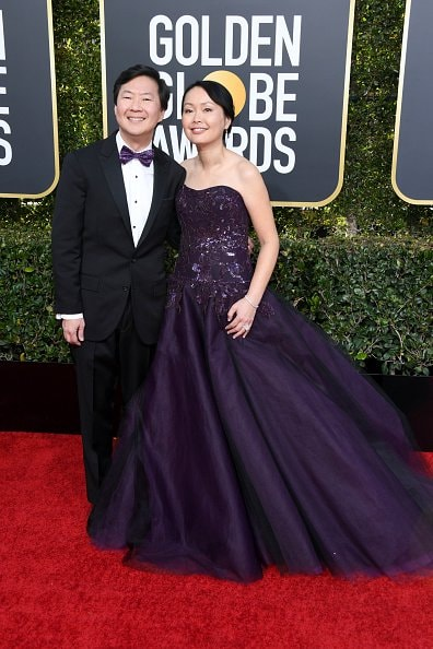 BEVERLY HILLS, CA - JANUARY 06: (L-R) Ken Jeong and Tran Jeong attend the 76th Annual Golden Globe Awards at The Beverly Hilton Hotel on January 6, 2019 in Beverly Hills, California.  (Photo by Jon Kopaloff/Getty Images)