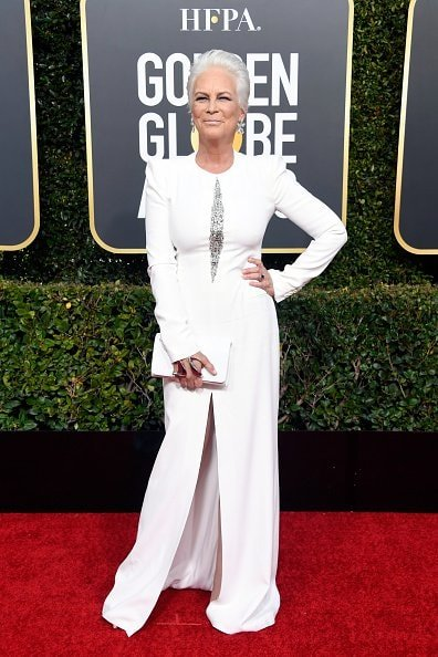BEVERLY HILLS, CA - JANUARY 06:  Jamie Lee Curtis attends the 76th Annual Golden Globe Awards at The Beverly Hilton Hotel on January 6, 2019 in Beverly Hills, California.  (Photo by Frazer Harrison/Getty Images)