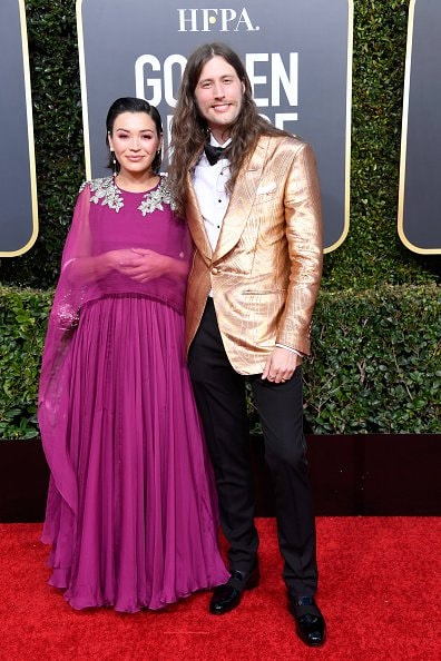 BEVERLY HILLS, CA - JANUARY 06:  Serena McKinney (L) and Ludwig Goransson attend the 76th Annual Golden Globe Awards at The Beverly Hilton Hotel on January 6, 2019 in Beverly Hills, California.  (Photo by Frazer Harrison/Getty Images)