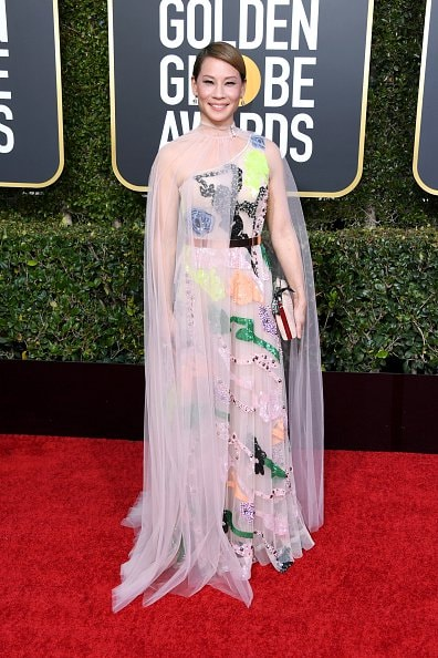 BEVERLY HILLS, CA - JANUARY 06:  Lucy Liu attends the 76th Annual Golden Globe Awards at The Beverly Hilton Hotel on January 6, 2019 in Beverly Hills, California.  (Photo by Jon Kopaloff/Getty Images)