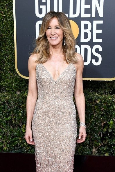 BEVERLY HILLS, CA - JANUARY 06:  Felicity Huffman attends the 76th Annual Golden Globe Awards at The Beverly Hilton Hotel on January 6, 2019 in Beverly Hills, California.  (Photo by Jon Kopaloff/Getty Images)