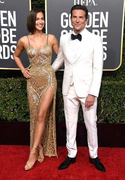 BEVERLY HILLS, CA - JANUARY 06:  Irina Shayk (L) and Bradley Cooper attend the 76th Annual Golden Globe Awards at The Beverly Hilton Hotel on January 6, 2019 in Beverly Hills, California.  (Photo by Frazer Harrison/Getty Images)