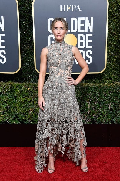 BEVERLY HILLS, CA - JANUARY 06:  Emily Blunt attends the 76th Annual Golden Globe Awards at The Beverly Hilton Hotel on January 6, 2019 in Beverly Hills, California.  (Photo by Frazer Harrison/Getty Images)