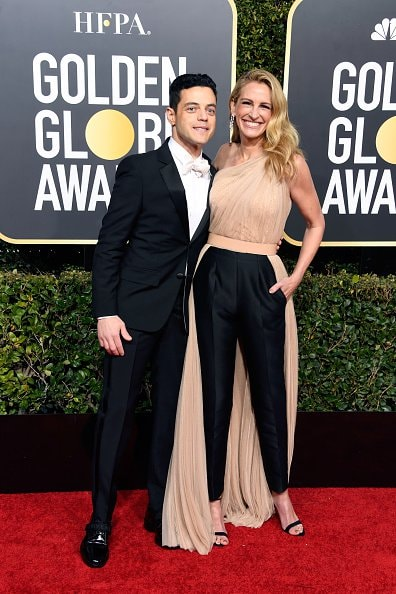BEVERLY HILLS, CA - JANUARY 06:  Rami Malek (L) and Julia Roberts attend the 76th Annual Golden Globe Awards at The Beverly Hilton Hotel on January 6, 2019 in Beverly Hills, California.  (Photo by Frazer Harrison/Getty Images)