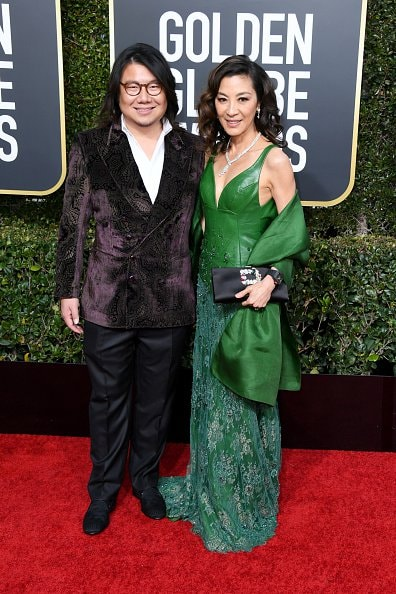 BEVERLY HILLS, CA - JANUARY 06:  Kevin Kwan and Michelle Yeoh attends the 76th Annual Golden Globe Awards at The Beverly Hilton Hotel on January 6, 2019 in Beverly Hills, California.  (Photo by Jon Kopaloff/Getty Images)