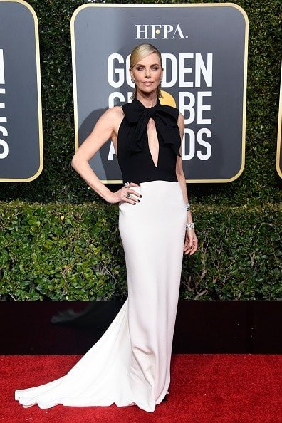 BEVERLY HILLS, CA - JANUARY 06:  Charlize Theron attends the 76th Annual Golden Globe Awards at The Beverly Hilton Hotel on January 6, 2019 in Beverly Hills, California.  (Photo by Frazer Harrison/Getty Images)