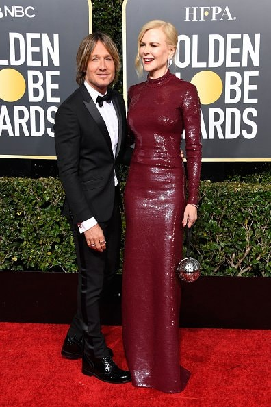 BEVERLY HILLS, CA - JANUARY 06:  Keith Urban (L) and Nicole Kidman attend the 76th Annual Golden Globe Awards at The Beverly Hilton Hotel on January 6, 2019 in Beverly Hills, California.  (Photo by Frazer Harrison/Getty Images)