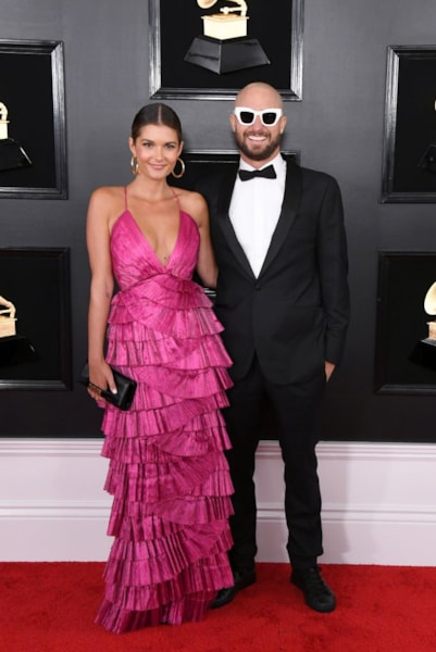 LOS ANGELES, CALIFORNIA - FEBRUARY 10: FISHER (R) and guest attend the 61st Annual GRAMMY Awards at Staples Center on February 10, 2019 in Los Angeles, California. (Photo by Jon Kopaloff/Getty Images)