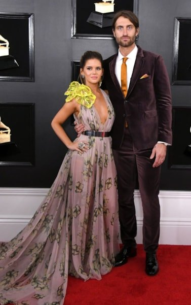 LOS ANGELES, CALIFORNIA - FEBRUARY 10: Maren Morris and Ryan Hurd attend the 61st Annual GRAMMY Awards at Staples Center on February 10, 2019 in Los Angeles, California. (Photo by Jon Kopaloff/Getty Images)