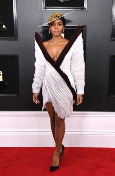 LOS ANGELES, CALIFORNIA - FEBRUARY 10: Janelle Monáe attends the 61st Annual GRAMMY Awards at Staples Center on February 10, 2019 in Los Angeles, California. (Photo by Jon Kopaloff/Getty Images)