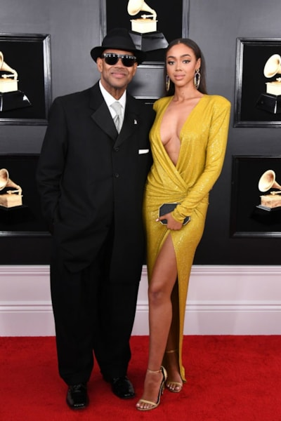 LOS ANGELES, CALIFORNIA - FEBRUARY 10: Jimmy Jam and Bella Harris attend the 61st Annual GRAMMY Awards at Staples Center on February 10, 2019 in Los Angeles, California. (Photo by Jon Kopaloff/Getty Images)