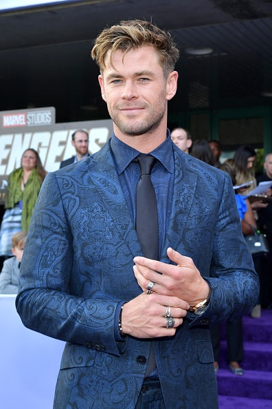"LOS ANGELES, CA - APRIL 22:  Chris Hemsworth attends the world premiere of Walt Disney Studios Motion Pictures ""Avengers: Endgame"" at the Los Angeles Convention Center on April 22, 2019 in Los Angeles, California.  (Photo by Amy Sussman/Getty Images)"