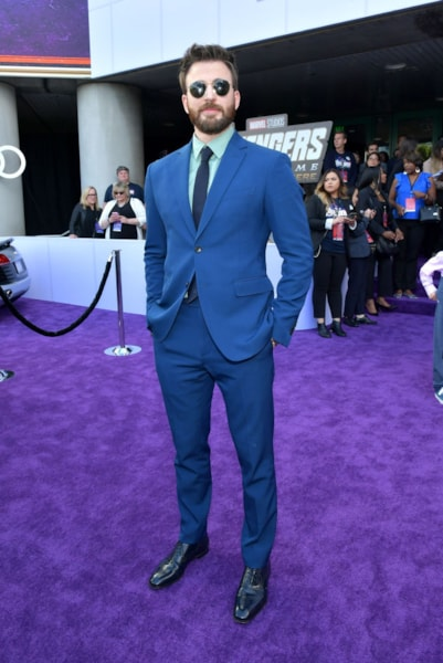 "LOS ANGELES, CA - APRIL 22:  Chris Evans attends the world premiere of Walt Disney Studios Motion Pictures ""Avengers: Endgame"" at the Los Angeles Convention Center on April 22, 2019 in Los Angeles, California.  (Photo by Amy Sussman/Getty Images)"