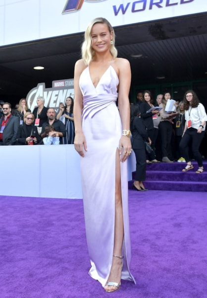 "LOS ANGELES, CA - APRIL 22:  Brie Larson attends the world premiere of Walt Disney Studios Motion Pictures ""Avengers: Endgame"" at the Los Angeles Convention Center on April 22, 2019 in Los Angeles, California.  (Photo by Amy Sussman/Getty Images)"