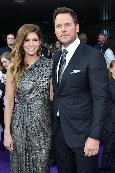 "LOS ANGELES, CA - APRIL 22:  Katherine Schwarzenegger (L) and Chris Pratt attend the world premiere of Walt Disney Studios Motion Pictures ""Avengers: Endgame"" at the Los Angeles Convention Center on April 22, 2019 in Los Angeles, California.  (Photo by Amy Sussman/Getty Images)"