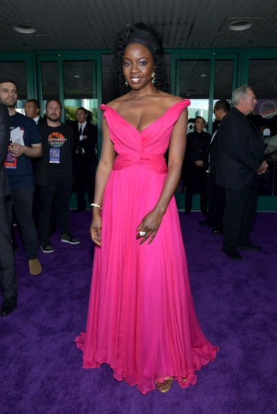 "LOS ANGELES, CA - APRIL 22:  Danai Gurira attends the world premiere of Walt Disney Studios Motion Pictures ""Avengers: Endgame"" at the Los Angeles Convention Center on April 22, 2019 in Los Angeles, California.  (Photo by Amy Sussman/Getty Images)"