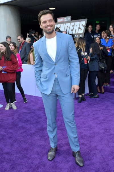 "LOS ANGELES, CA - APRIL 22:  Sebastian Stan  attends the world premiere of Walt Disney Studios Motion Pictures ""Avengers: Endgame"" at the Los Angeles Convention Center on April 22, 2019 in Los Angeles, California.  (Photo by Amy Sussman/Getty Images)"