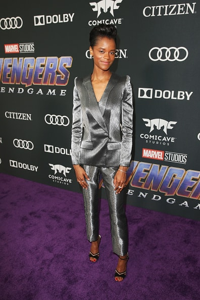 "LOS ANGELES, CA - APRIL 22:  Letitia Wright attends the Los Angeles World Premiere of Marvel Studios' ""Avengers: Endgame"" at the Los Angeles Convention Center on April 23, 2019 in Los Angeles, California.  (Photo by Jesse Grant/Getty Images for Disney)"