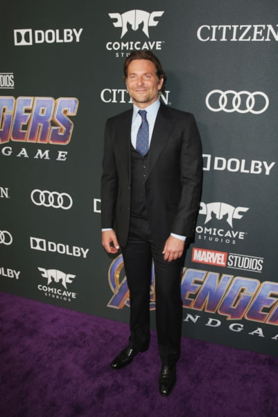 "LOS ANGELES, CA - APRIL 22:  Bradley Cooper attends the Los Angeles World Premiere of Marvel Studios' ""Avengers: Endgame"" at the Los Angeles Convention Center on April 23, 2019 in Los Angeles, California.  (Photo by Jesse Grant/Getty Images for Disney)"