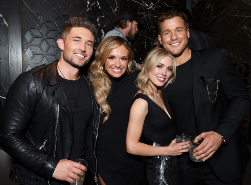 LAS VEGAS, NEVADA - APRIL 07: (L-R) Michael Ray, Carly Pearce, Cassie Randolph, and Colton Underwood are seen as Big Machine Label Group Celebrates the 54th Annual ACM Awards at Hakkasan Las Vegas Restaurant and Nightclub on April 07, 2019 in Las Vegas, Nevada. (Photo by Jason Kempin/Getty Images for Big Machine Label Group)