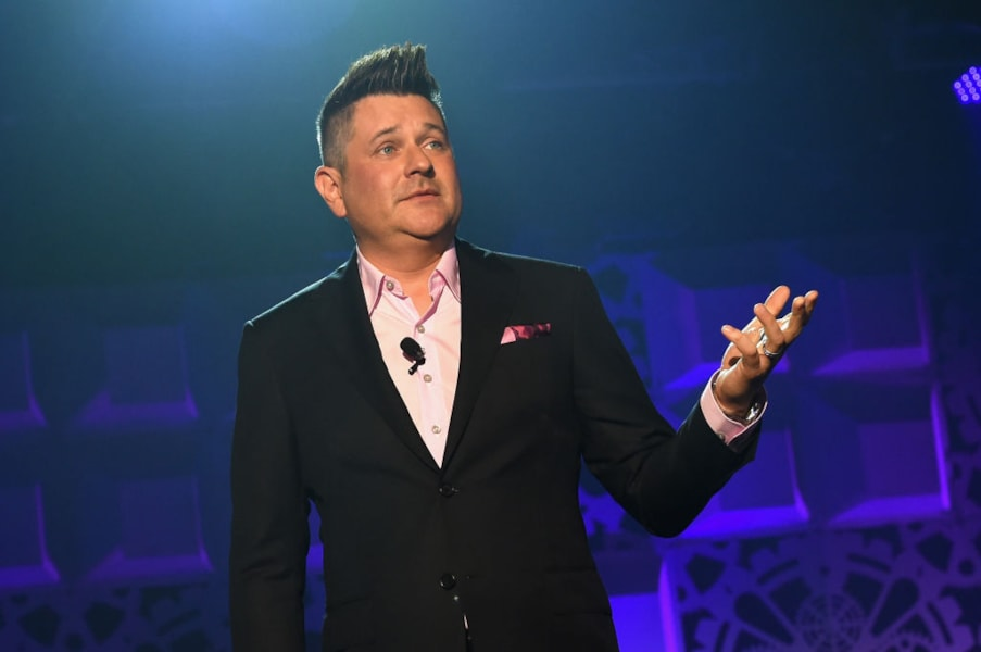 NASHVILLE, TN - JUNE 06:  Jay DeMarcus speaks onstage at the Innovation In Music Awards on June 6, 2017 in Nashville, Tennessee.  (Photo by Rick Diamond/Getty Images for Innovation In Music Awards)