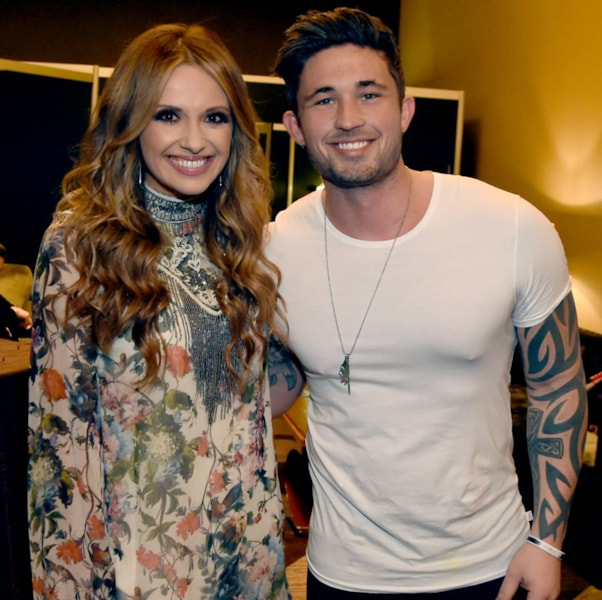 Artists Carly Pearce and Michael Ray take photos backstage during New Faces of Country Music Show for Day 3 of CRS 2018 on February 7, 2018 in Nashville, Tennessee.