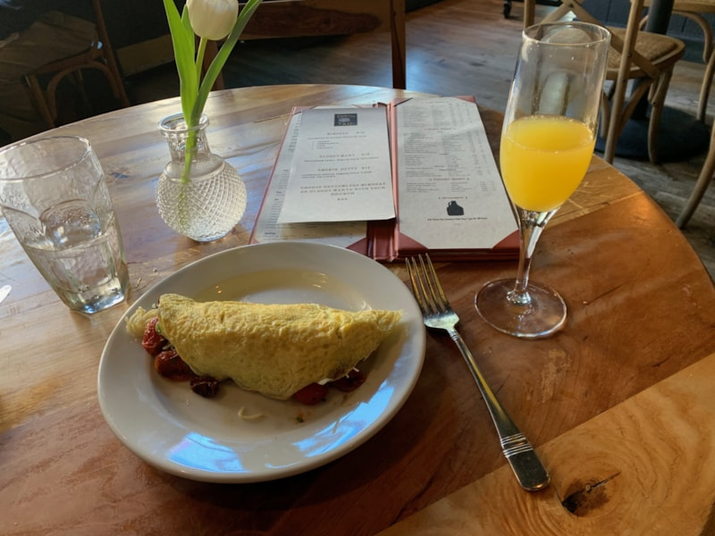 Made to order omelettes at Twisted Tail