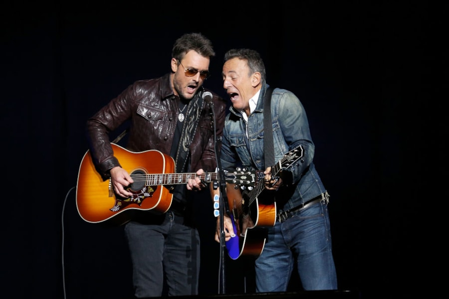 NEW YORK, NY - NOVEMBER 05:  Eric Church and Bruce Springsteen peroforms on stage at The New York Comedy Festival and The Bob Woodruff Foundation present the 12th Annual Stand Up For Heroes event at The Hulu Theater at Madison Square Garden on November 5, 2018 in New York City.  (Photo by Brian Ach/Getty Images for Bob Woodruff Foundation)