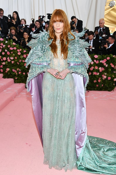 NEW YORK, NEW YORK - MAY 06: Florence Welch attends The 2019 Met Gala Celebrating Camp: Notes on Fashion at Metropolitan Museum of Art on May 06, 2019 in New York City. (Photo by Dimitrios Kambouris/Getty Images for The Met Museum/Vogue)