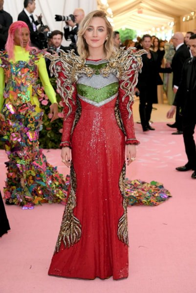 NEW YORK, NEW YORK - MAY 06: Saoirse Ronan attends The 2019 Met Gala Celebrating Camp: Notes on Fashion at Metropolitan Museum of Art on May 06, 2019 in New York City. (Photo by Neilson Barnard/Getty Images)