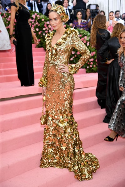 NEW YORK, NEW YORK - MAY 06: Emily Blunt attends The 2019 Met Gala Celebrating Camp: Notes on Fashion at Metropolitan Museum of Art on May 06, 2019 in New York City. (Photo by Dimitrios Kambouris/Getty Images for The Met Museum/Vogue)