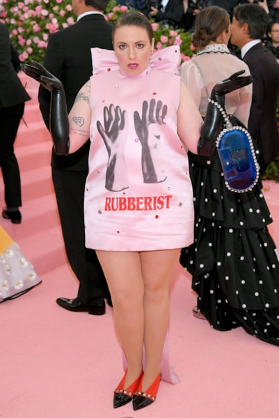 NEW YORK, NEW YORK - MAY 06: Lena Dunham attends The 2019 Met Gala Celebrating Camp: Notes on Fashion at Metropolitan Museum of Art on May 06, 2019 in New York City. (Photo by Neilson Barnard/Getty Images)