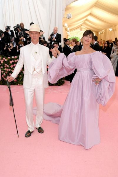 NEW YORK, NEW YORK - MAY 06: Benedict Cumberbatch and Sophie Hunter attend The 2019 Met Gala Celebrating Camp: Notes on Fashion at Metropolitan Museum of Art on May 06, 2019 in New York City. (Photo by Neilson Barnard/Getty Images)