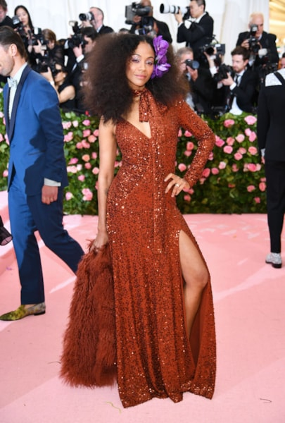 NEW YORK, NEW YORK - MAY 06: Zoe Saldana attends The 2019 Met Gala Celebrating Camp: Notes on Fashion at Metropolitan Museum of Art on May 06, 2019 in New York City. (Photo by Dimitrios Kambouris/Getty Images for The Met Museum/Vogue)