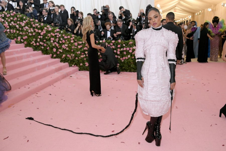 NEW YORK, NEW YORK - MAY 06: Tessa Thompson attends The 2019 Met Gala Celebrating Camp: Notes on Fashion at Metropolitan Museum of Art on May 06, 2019 in New York City. (Photo by Neilson Barnard/Getty Images)