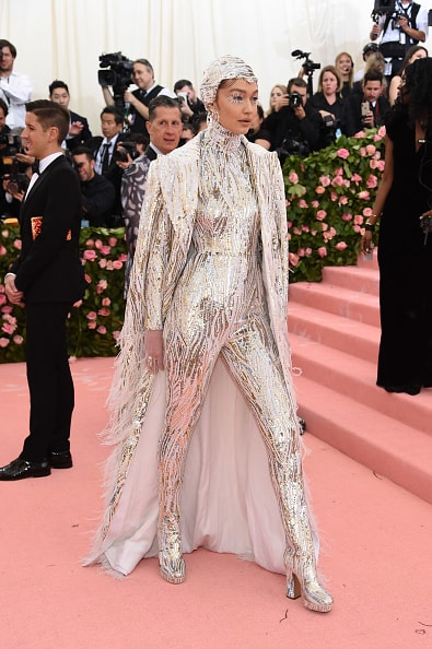 NEW YORK, NEW YORK - MAY 06: Gigi Hadid attends The 2019 Met Gala Celebrating Camp: Notes on Fashion at Metropolitan Museum of Art on May 06, 2019 in New York City. (Photo by Jamie McCarthy/Getty Images)