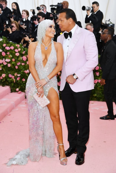 NEW YORK, NEW YORK - MAY 06: Jennifer Lopez and Alex Rodriguez attends The 2019 Met Gala Celebrating Camp: Notes on Fashion at Metropolitan Museum of Art on May 06, 2019 in New York City. (Photo by Dimitrios Kambouris/Getty Images for The Met Museum/Vogue)