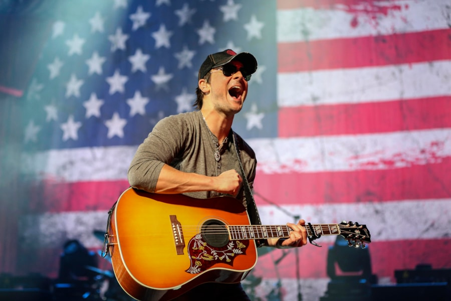 LOS ANGELES, CA - NOVEMBER 04:  Musician, Eric Church performs at Nokia Theatre L.A. Live on November 4, 2012 in Los Angeles, California.  (Photo by Christopher Polk/Getty Images)