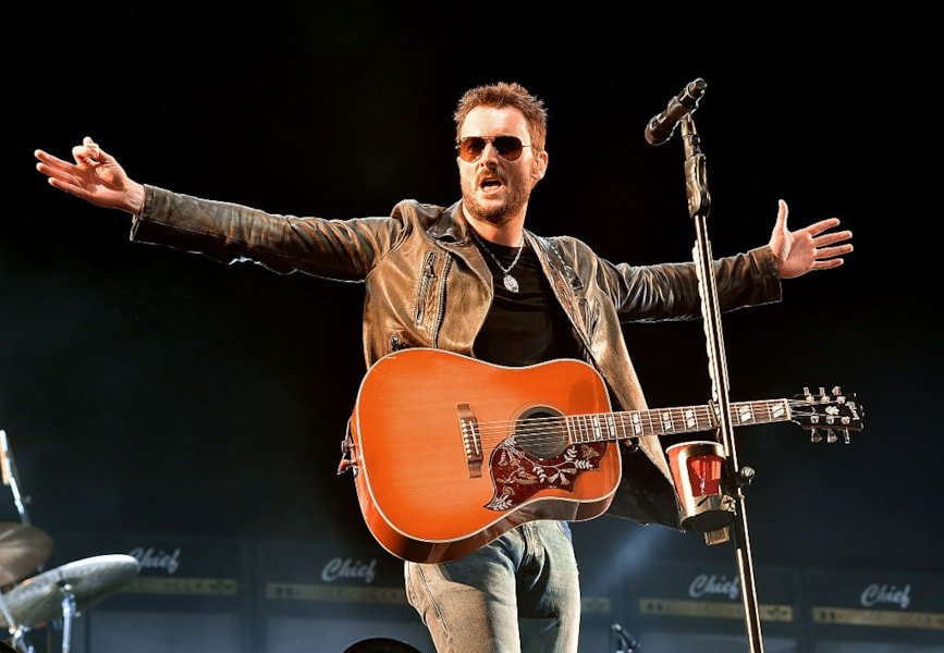 INDIO, CA - APRIL 29: Musician Eric Church performs onstage during 2016 Stagecoach California's Country Music Festival at Empire Polo Club on April 29, 2016 in Indio, California.  (Photo by Kevin Winter/Getty Images)