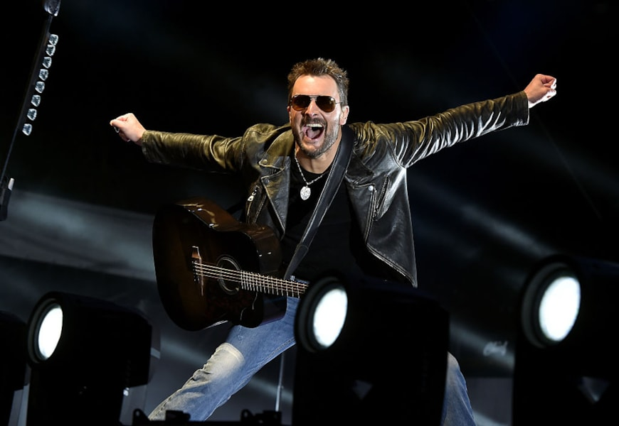 INDIO, CA - APRIL 29:  Musician Eric Church performs onstage during 2016 Stagecoach California's Country Music Festival at Empire Polo Club on April 29, 2016 in Indio, California.  (Photo by Kevin Winter/Getty Images for Stagecoach)