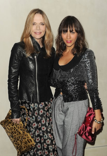 LOS ANGELES, CA - OCTOBER 11:  Actress Rashida Jones and Peggy Lipton arrives at the Giorgio Armani / Vanity Fair private dinner on October 11, 2011 in Los Angeles, California.  (Photo by Jason Merritt/Getty Images for Giorgio Armani)