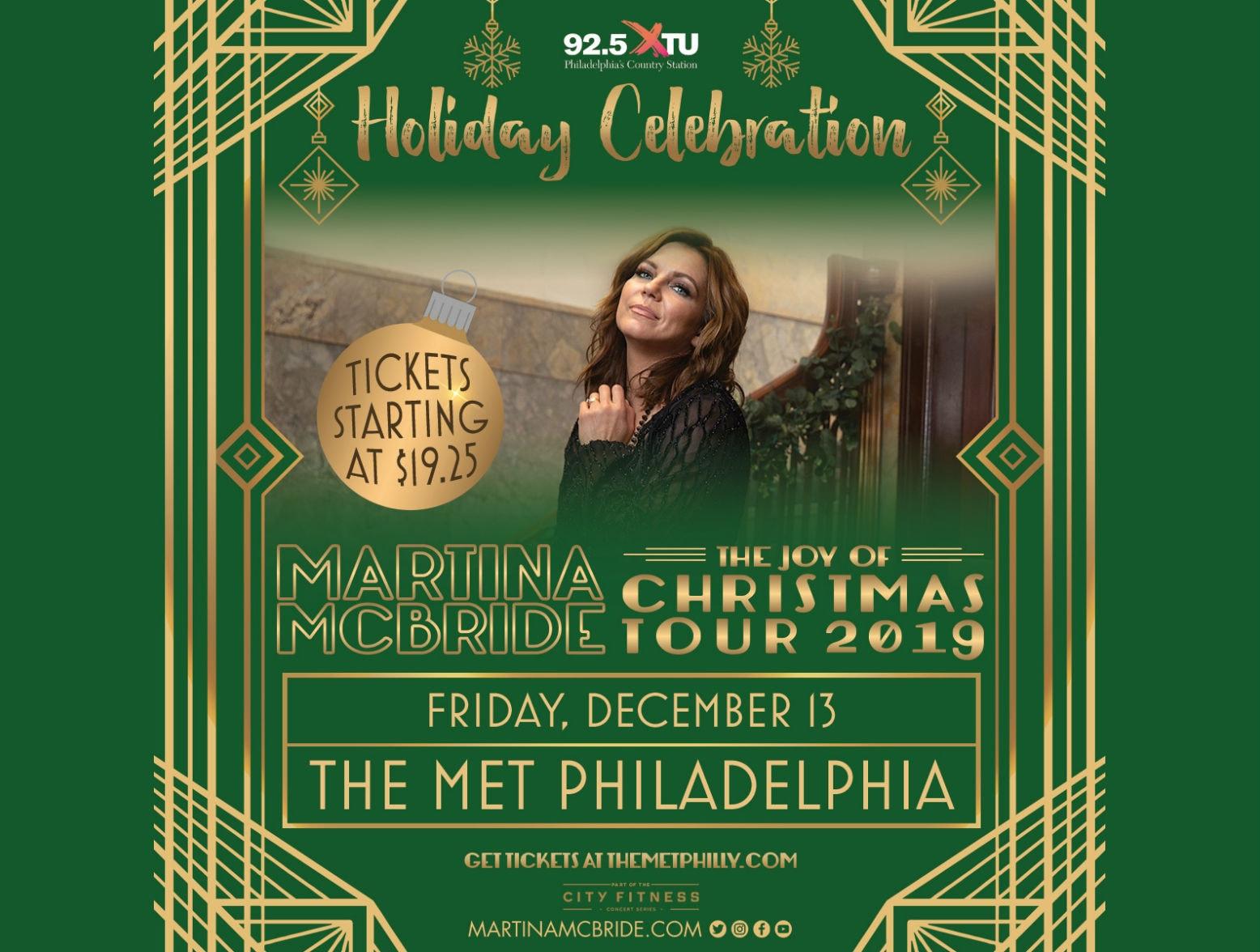 92 5 Wxtu Presents Martina Mcbride S Holiday Celebration At
