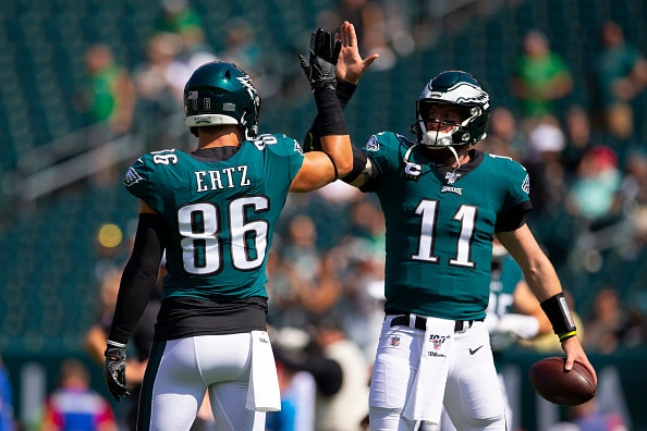 Image result for carson wentz celebration